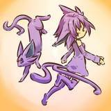 espeon and her trainer